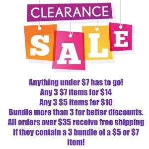 Accessories - Closet clear out buy 3 $5/$7 items and get 1 free